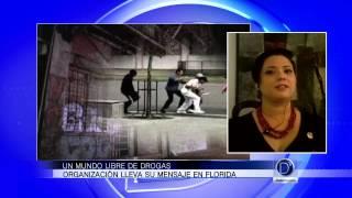 Un mundo libre de drogas, organización lleva su mensaje en la Florida