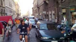 Roma Critical Mass 2009 june  by Francesco Motta