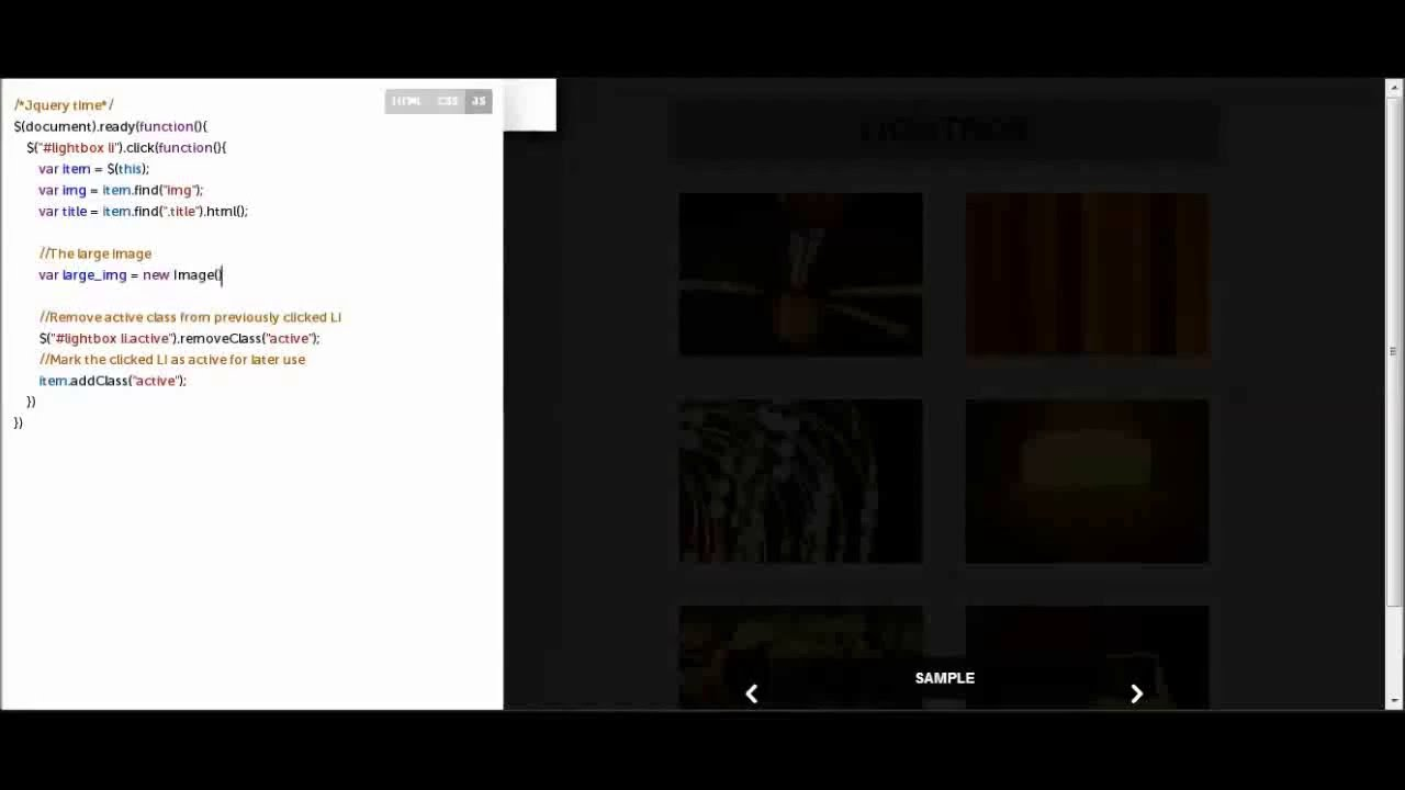 Create Light Box image view with css and Jquery