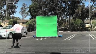 Greenscreen Car hit