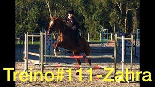 Treino#117 Primeira vez com Zahra-A égua sem treinamento