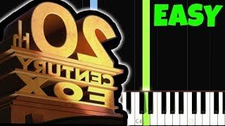 20th Century Fox [Easy Piano Tutorial] (Synthesia/Sheet Music)