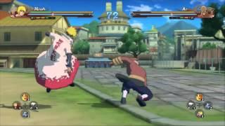 Naruto ultimate ninja 4 Minato vs Raikage