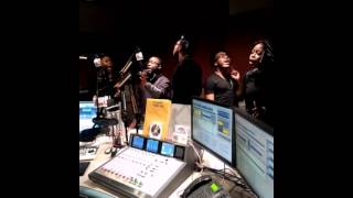 Livre in the house singing live at the 1190am wlib studio
