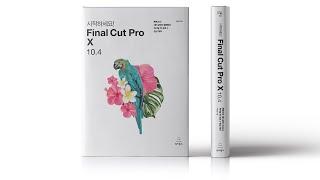 시작하세요! Final Cut Pro X 10.4 북 트레일러 50초