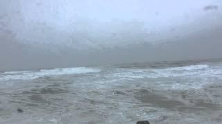 Blizzard on the ocean