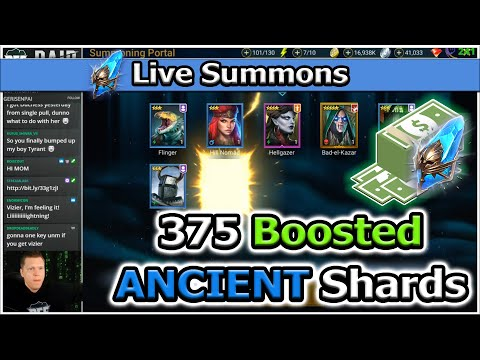 RAID Shadow Legends | 375 Boosted Ancients | LIVE Summons!
