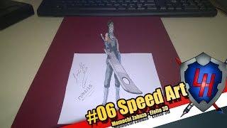 Desenhando Momochi Zabuza / Naruto - S.D. #45 (Efeito 3D)