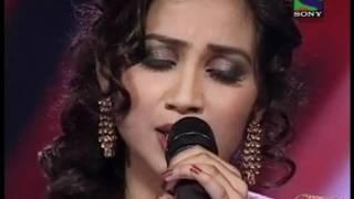 xfactor shreya ghoshal singing lag ja gale