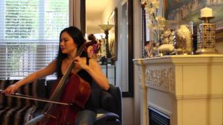 Tina Guo Practicing Bach's Allemande