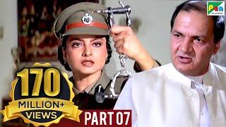 Phool Bane Angaray (1991 )   Rekha, Rajinikanth   Hindi Movie Part 7 of 9 width=
