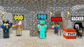 Minecraft Battle: NOOB vs PRO vs HACKER vs GOD : ESCAPE FROM PRISON Challenge in Minecraft