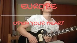 Europe | Open Your Heart | Guitar solo cover