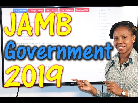 JAMB CBT Government 2019 Past Questions 1 - 20