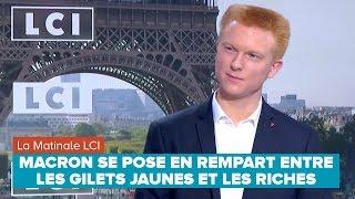 MACRON SE POSE EN REMPART ENTRE LES GILETS JAUNES ET LES RICHES - Adrien Quatennens