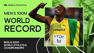 World Record | Men's 100m Final | IAAF World Championships Berlin 2009