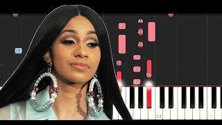 Cardi B - Money (Piano Tutorial Instrumental)