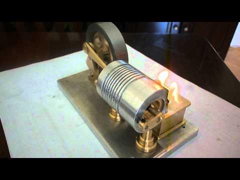 Alev yiyen (vacum engine) model makine