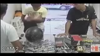 Bandido tenta assaltar loja e acaba levando facãozadas do dono