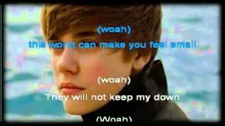 Justin Bieber - Born To Be Somebody KARAOKE INSTRUMENTAL