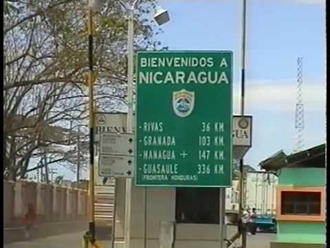 CA2003-07. Crossing the border in Penas Blancas, from Costa Rica to Nicaragua