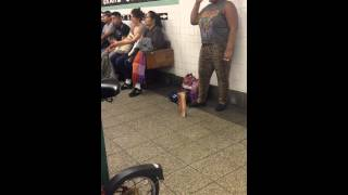 Halo Beyonce Cover by Silvia Jhony in New York Subway
