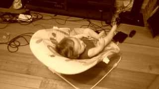 5 month old son enjoying 'Suicide and Redemption' by Metallica