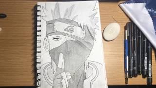 Kakashi Hatake Timelapse   Pencil Drawing
