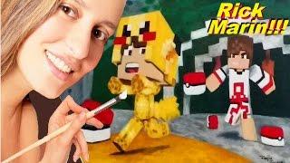 RICK MARIN POKÉMON GO NO MINECRAFT!  Q U A D R A D A M E N T E ( Paródia MALANDRAMENTE Minecraft)