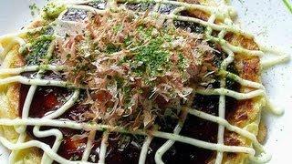 Video receta: Como preparar okonomiyaki o pizza japonesa / How to Make Okonomiyaki