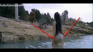 Aishwarya Rai exposed her Boobs and Ass in wet Gown width=