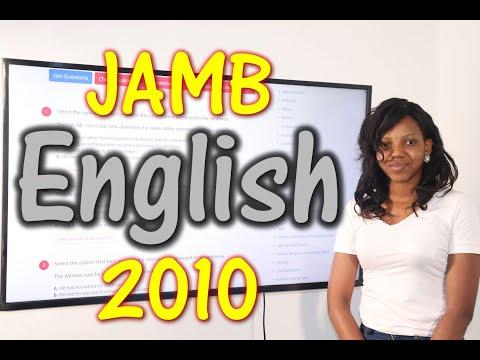 JAMB CBT English 2010 Past Questions 1 - 20