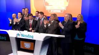 Invesco PowerShares and Daytona International Speedway ring the Nasdaq Opening Bell! $QQQ