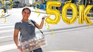 GRATIDÃO 50K EM 5 MESES - GANHEI UM PRESENTE - JÁ PENSEI EM DESISTIR
