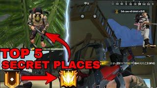 Top 5 Secret/Hidden Places In Free Fire