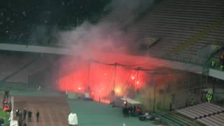 Napoli-Roma 1-0 09-03-2014 Ingresso Ultras Roma