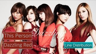 [Line Distribution] Dazzling Red - This Person (Feat. Junhyung) #NewYearCountdown (D-1)