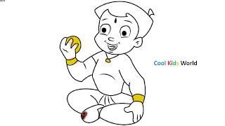 Chhota Bheem Laddu Eating Coloring Pages   How To Draw Shiva Arjun Chota Bhim Cartoon Book for Kids