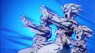 Goku,Gohan y Goten KameHameHa vs Broly