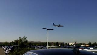 Plane Spotting British Airways Boeing 747  at Heathrow Airport Terminal 2 3 Car park