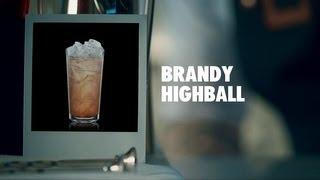 BRANDY HIGHBALL DRINK RECIPE - HOW TO MIX
