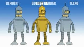 'BENDER' 3D MODELS (UNIVERSITY PROJECT, 2008)