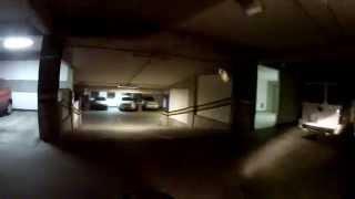 XTZ 125: Descendo o estacionamento do Hospital Espanhol