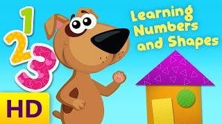 Learning Numbers and Basic Shapes | Skip Counting by 2s & 10s | Learning Videos for Toddlers