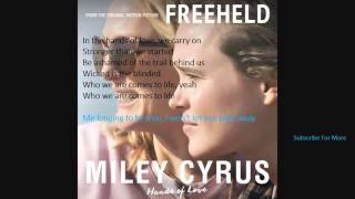 """Miley Cyrus """"Hands Of Love"""" lyrics and Audio new song"""