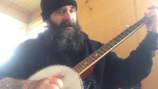 When the man comes around - Johnny Cash - frailing banjo cover