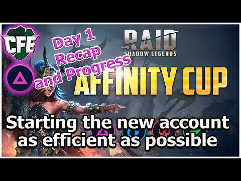 RAID Shadow Legends | Affinity Cup | Day 1 Report / Progress