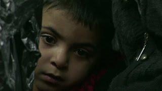 Refugiados sírios são resgatados do mar durante a noite na costa da Grécia