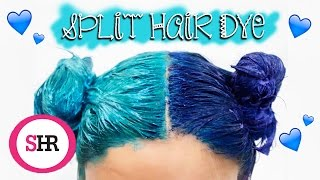 How To: SPLIT HAIR DYE in Blue & Turquoise!