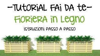 TUTORIAL FAI DA TE - Come costruire una fioriera con i pallet - Progetta vasi in legno!
